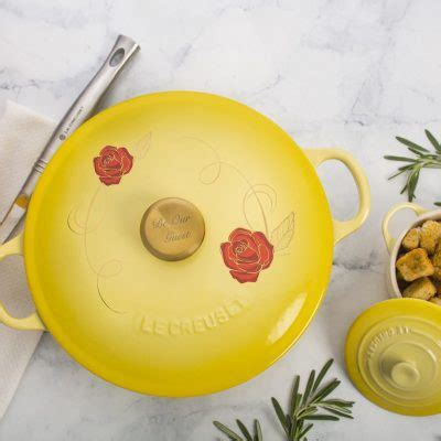 le creuset beauty and the beast soup pot best park announcements from the d23 expo the disney belles