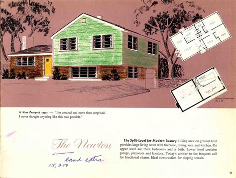 Split Level House Plans 1960s Hodgson Houses The Pre Fabricated Homes In The U S Retro Renovation
