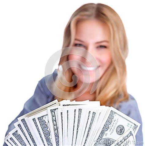 Dream About Winning Money - cute girl winning money stock photo image 39881313