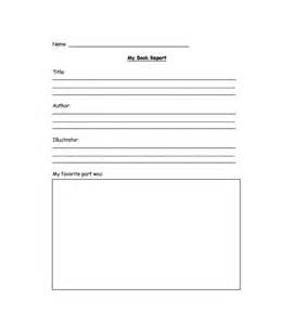 Book Summary Template by Book Report Summary Template Book Report 5 6