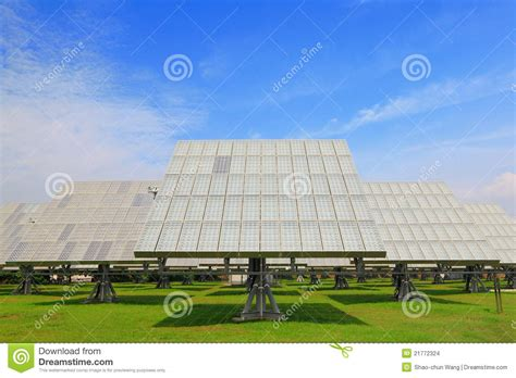 solar panel with green grass stock images image 21772324