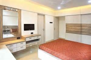 Wall Bed Designs Mumbai Master Bedroom With Mirror Design By Suneil Verma