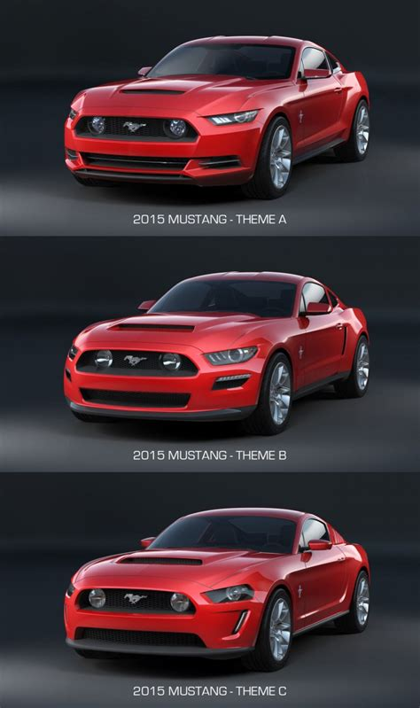 the evolving design themes of the 2015 ford mustang 2015 mustang from sketch to production car body design