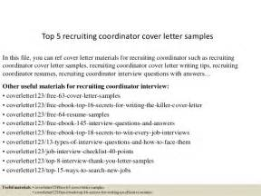 Hospital Recruiter Cover Letter by Sle Cover Letter To Recruiter Resume Cv Cover Letter