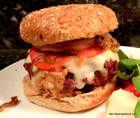Does Backyard Burger Use Peanut Peanut Butter Stuffed Burger Date Doins Bbq For Two
