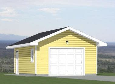 16 x 24 garage plans 16x24 1 car garage 16x24g2a 384 sq ft excellent
