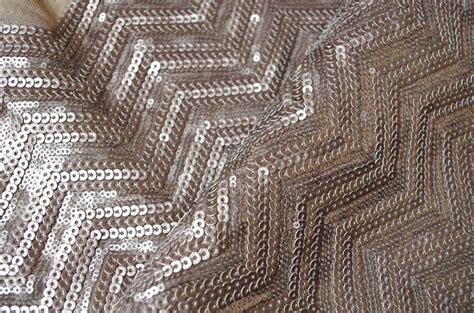 brown chevron sequin fabric luxury costume fabric sequin