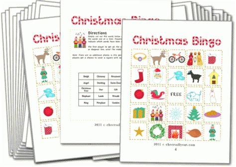 printable games for christmas party christmas bingo with pictures christmas games for kids