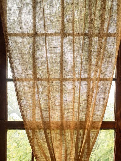 Rideau En Toile De Jute by Rideau En Toile De Jute Pendant L 226 Chement De Window