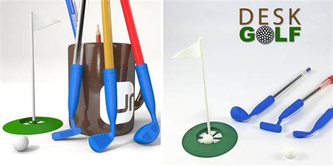 This Addicting 3d Printed Desk Golf Game Will Keep You Desk Golf