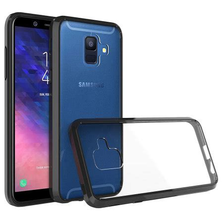 olixar exoshield tough snap on samsung galaxy a6 2018 black