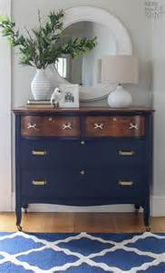coastal blue and antique walnut dresser general finishes