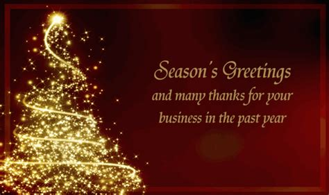 christmas greeting company business card messages happy holidays