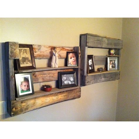 picture shelves made from pallets for the home