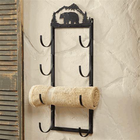 Decorative Bathroom Towel Racks Wall Door Mount Towel Rack