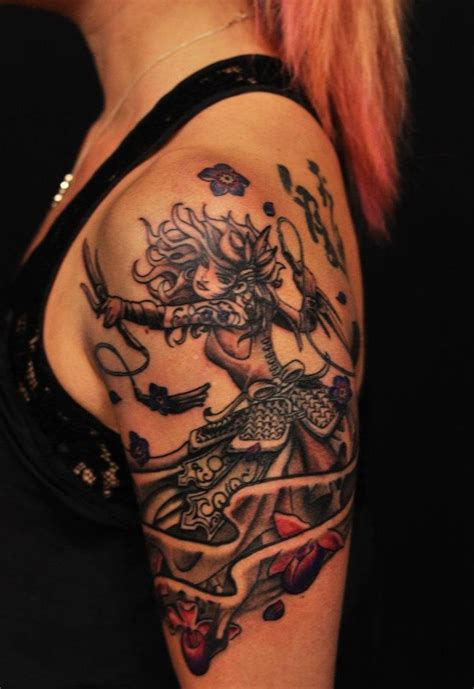 female warrior tattoos chronic ink tattoos toronto warrior