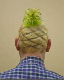 pineapple on hair farrenkopf s haircut raises nearly 3 000 for youth home