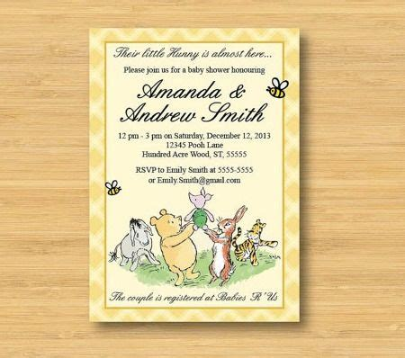 Classic Pooh Invitations Baby Shower by 1000 Images About Winnie The Pooh Baby Shower On