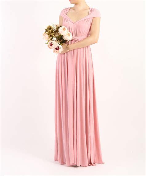 Floor Length Wrap Dress by Pink Infinity Dress Floor Length Wrap Dress Pink