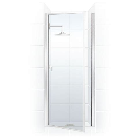 Hinged Glass Shower Door Coastal Shower Doors Legend Series 34 In X 68 In Framed Hinged Shower Door In Chrome With