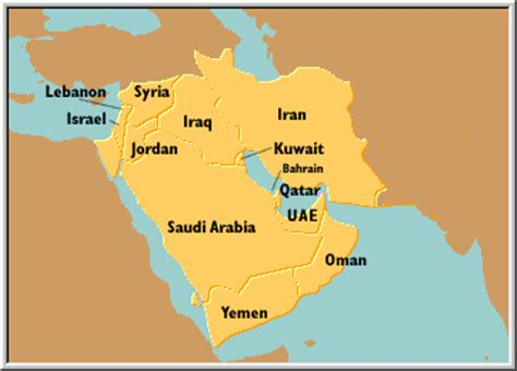 middle east map showing kuwait kuwait to require dna testing of all tourists about