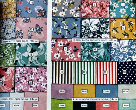 1940s 1950s color schemes design fun in the shop 1940s fabrics and colors in fashion
