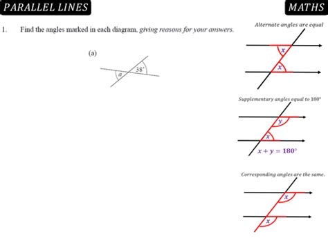 angles between parallel lines worksheet angles in parallel lines by danbar1000 teaching resources tes