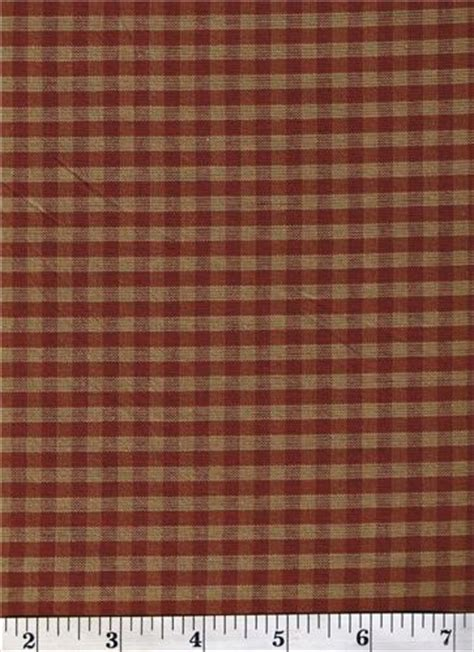 dunroven house dunroven house h 304 primitive style homespun red beige plaid fabric 1 2 yd cut