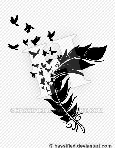 feather tattoo vector birds from a feather by hassified on deviantart
