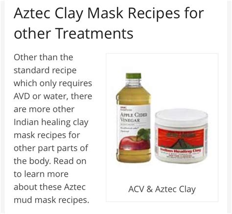 Healing Clays For Detoxing by Aztec Clay Mask Recipes Dandk