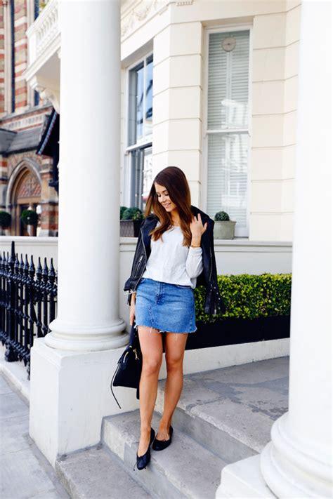 denim skirt outfits      headturner   design