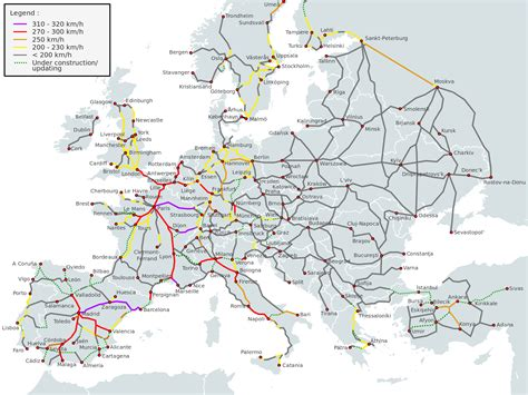 rail map of europe initiative to build belgrade budapest high speed