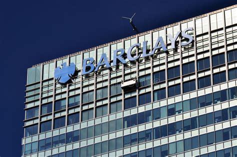 Barclays Sedi by Barclays Bank Canary Wharf Fotografia Stock Editoriale