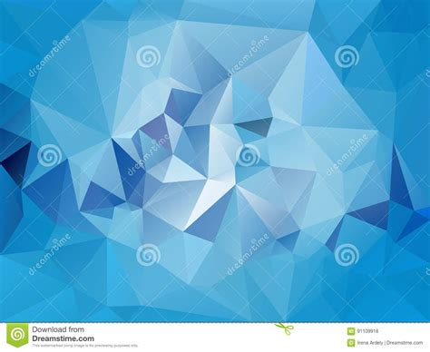 pattern in blue color vector irregular polygon background with a triangle