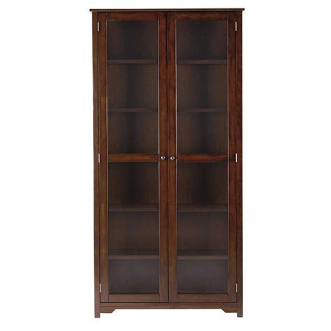 17 best ideas about glass door bookcase on