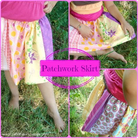 Patchwork Skirt Tutorial - elastic waistband skirt tutorial