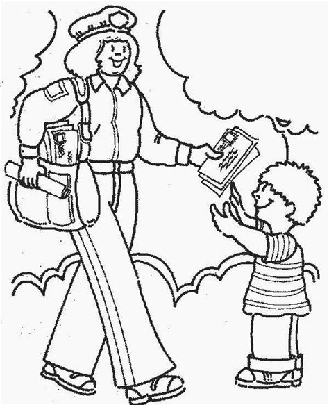 coloring pages for community helpers free printable community helper coloring pages for