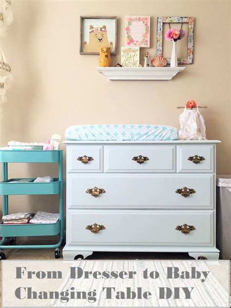 diy dresser into changing table a no sanding easy diy turning a dresser into a changing