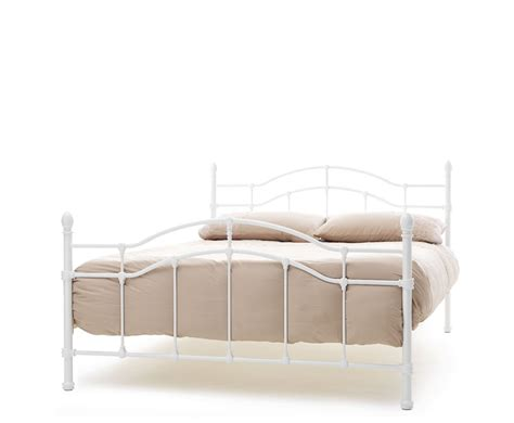 White Metal Framed Beds White Metal Bed Frame Metal Bed Frame White Antique Iron King Sizes Decorate My