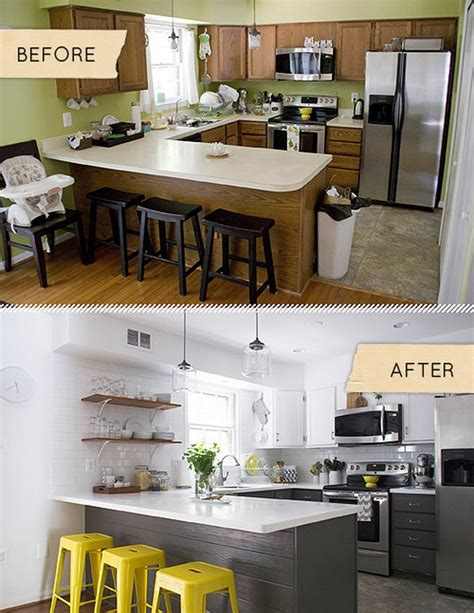 white kitchen cabinets before and after pretty before and after kitchen makeovers noted list