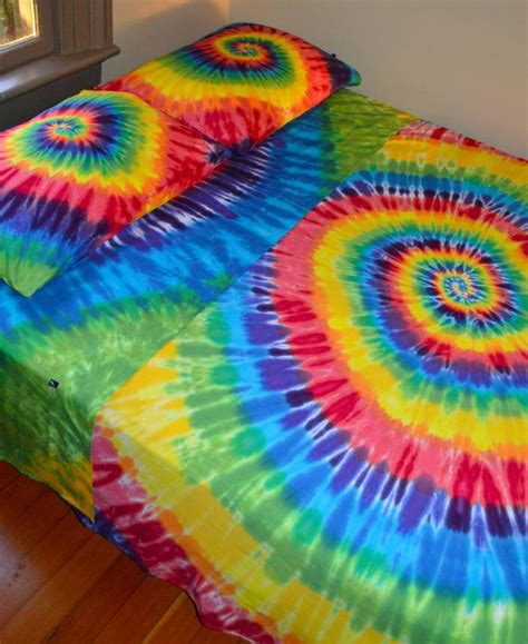 tie dye bed set hand dyed double full sheet set by wildflowerdyes com