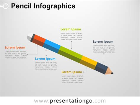 the following diagram shows how pencils are manufactured infographic pencil for powerpoint presentationgo