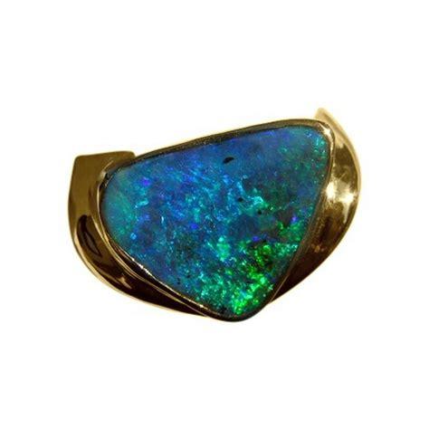 Handmade Opal Rings - mens boulder opal ring 18k gold handmade opal ring