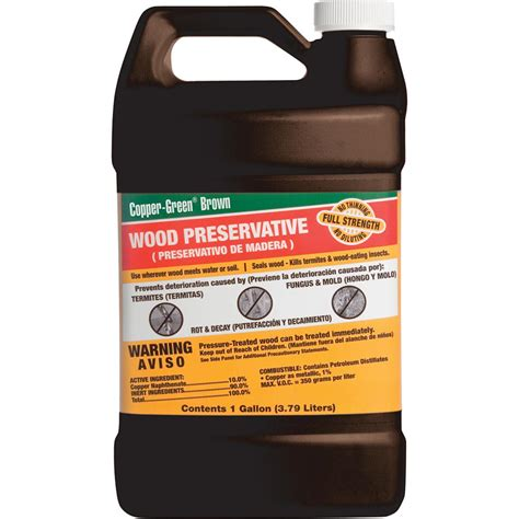 copper green  gal wood preservative   home depot