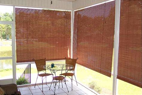 Outdoor Blinds For Porch Basswood Roll Up Woven Wood Shades For Porch