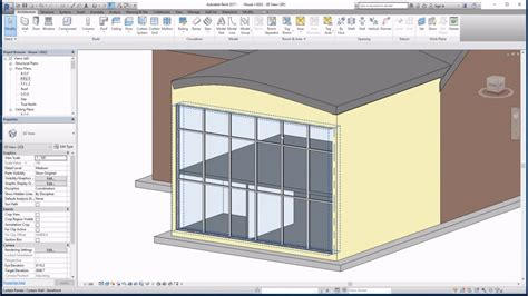 revit curtain wall tutorial revit 2017 tutorials beginners curtain walls youtube