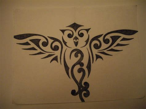 abstract owl tattoo 1000 ideas about tribal owl tattoos on simple