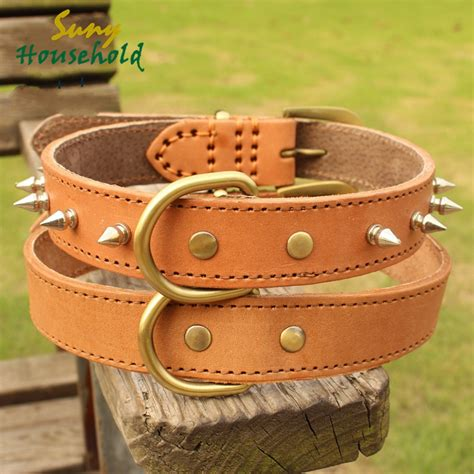 what size collar for golden retriever large pet collar genuine cowhide leather collars for samoyed golden retriever