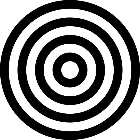printable black and white targets black and white target transparent png stickpng