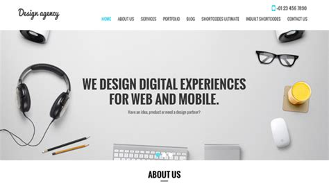 themes for design agencies free wordpress themes for consulting skt